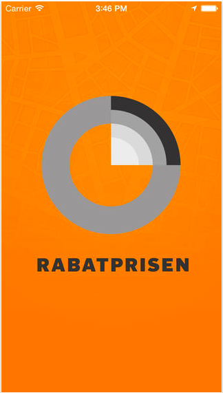 Rabatprisen-app forside
